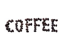 Free Coffee Bean Text Stock Photography - 2981322