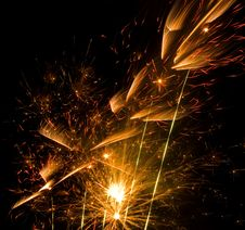 Free Yellow And Red Fireworks Stock Images - 2981764