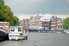 Typical View Of Amsterdam 2 Royalty Free Stock Images
