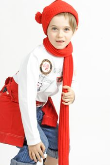 Free Boy In A Red Cap Royalty Free Stock Image - 2981936