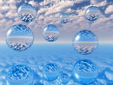 Free Water Balls Royalty Free Stock Photo - 2982065