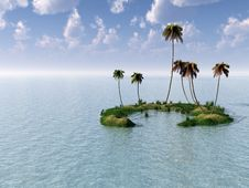 Free Palm Island Royalty Free Stock Photos - 2982068