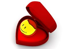 Box As Heart With  A Smile Stock Image