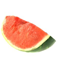 Red Water Melon Isolated Stock Photo