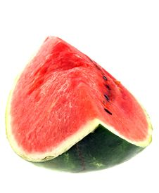 Free Water Melon Isolated On White Stock Images - 2982694