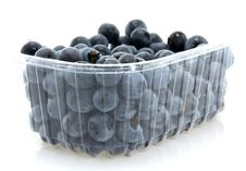 Free Basket Of Dessert Blueberries Royalty Free Stock Photography - 2982727