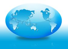 Free Oval Globe Royalty Free Stock Photography - 2983387
