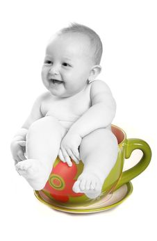 Free Baby In Teacup Stock Image - 2983801