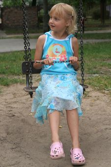Free Girl On A Swing Stock Photo - 2984650