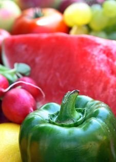 Free Colorful Vegetables And Fruit Stock Photography - 2984692