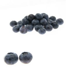 Free Blueberries Isolated On White Backround Stock Photos - 2984903