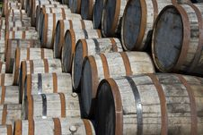 Stacked Barrels Stock Images