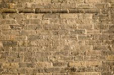 Free Rough Old Yellow Brick Wall Royalty Free Stock Photos - 2985948