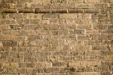Rough Old Yellow Brick Wall Royalty Free Stock Photos