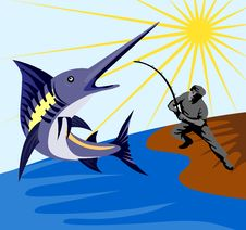 Free Fighting Blue Marlin Royalty Free Stock Photo - 2986135