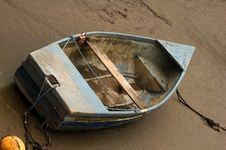 Old Beached Rowing Boat Stock Image