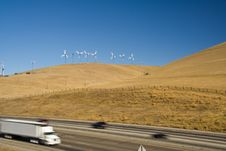 Free Cars And Windturbines Royalty Free Stock Photography - 2986327