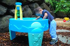 Child Playining In Water Pic2 Royalty Free Stock Photos