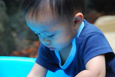 Child Playing In Water Pic3 Stock Photo