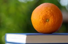 Free An Orange On A Book Stock Photography - 2986732