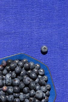 Free Blueberries In A Blue Bowl Stock Image - 2987201