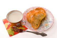 Free Toast And Milk Stock Photo - 2987230