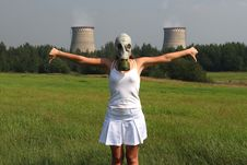 Free Girl In A Gas Mask Stock Photo - 2989400