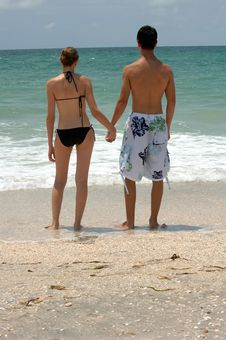 Young Beach Couple Royalty Free Stock Image