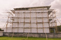 Free Bamboo Scaffolding For Painting Work On Building Royalty Free Stock Image - 29802616