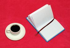Coffee And A Notebook Stock Images