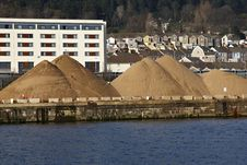 Free Mounds Of Sand On A Dockside Royalty Free Stock Photos - 29800418