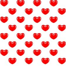 Pattern Red Heart Stock Photos