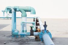 Pipes And Valves. Royalty Free Stock Photos
