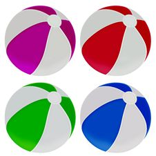 Free Illustration Of Colorful Beach Balls Royalty Free Stock Photos - 29803248