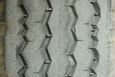 The Old Dirty Tire Foot Print Background Stock Images
