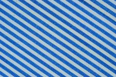 Free Close Up On Blue And White Line Fabric With 30 Degree Angle Royalty Free Stock Photography - 29805297
