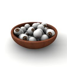Free A Bowl Full Of Eyes Stock Image - 29808051