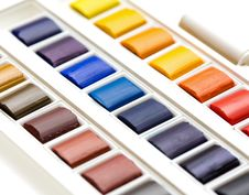 Free Watercolour Palette Closeup Royalty Free Stock Photography - 29810027