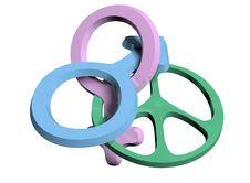 Free Gender Symbols Royalty Free Stock Photo - 29811225