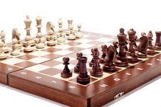 Free Wooden Chessboard Stock Photography - 29813392