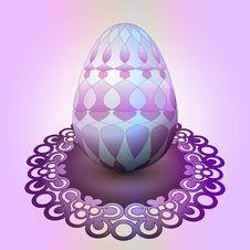 Free Handmade Easter Egg On Ornamental Tray Stock Images - 29815614