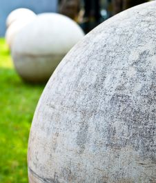 Free Cement Sphere Stock Photography - 29815812