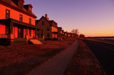 Free Officers Row In Fort Hancock Royalty Free Stock Image - 29817976