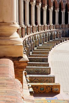 Free Glance Balcony Square Of Spain Royalty Free Stock Images - 29819989