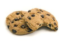 Free Two Chocolate Chip Cookies Stock Photo - 29820300