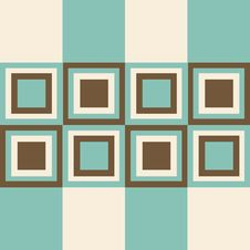 Fashion Pattern With Squares Royalty Free Stock Photos