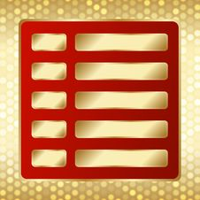 Free Template With Golden Buttons. Stock Photos - 29823293