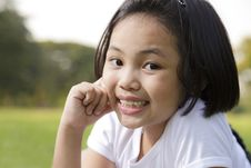 Free Asian Little Girl Relax And Smiling Stock Photos - 29824713