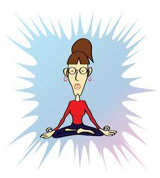 Free Funny Yoga Woman Stock Photography - 29825122