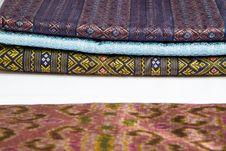 Free Thai Silk Background,Pattern Of Thai Hand Made Royalty Free Stock Photos - 29825358